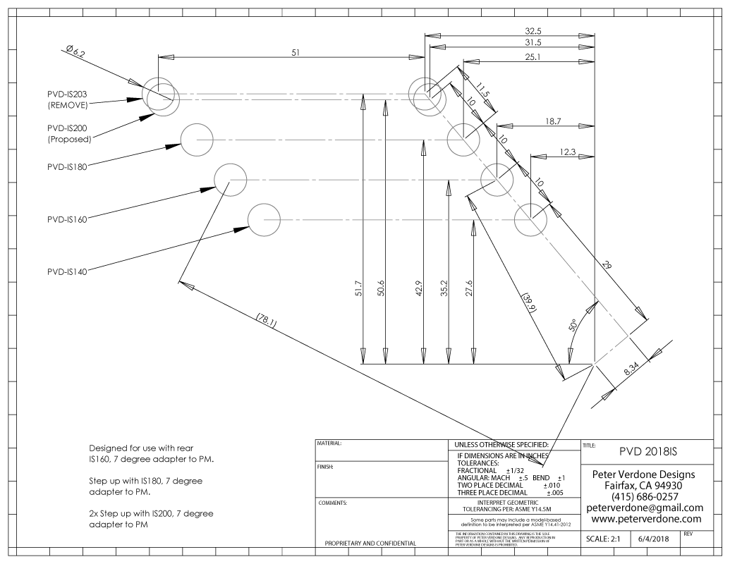Disc Brake Adaptors /&  rotors All Sizes Post IS International Standard Mount,