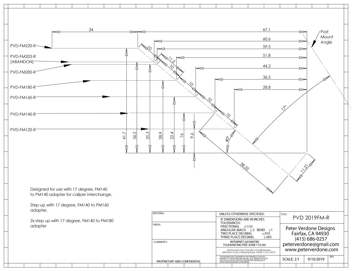 42mm TRP Mounting Bolt for Flat Mount Rear Caliper